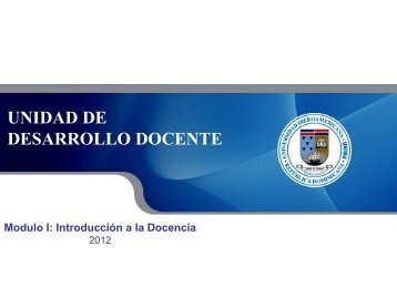 Introducción a la Docencia. Módulo 1