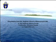 Solomon Islands and climate change Anglican Church of ... - Support