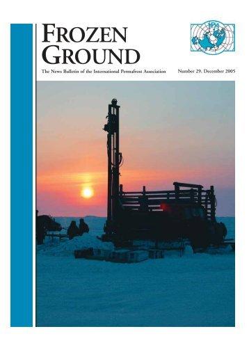 FROZEN GROUND - International Permafrost Association