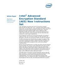 Intel(R) Advanced Encryption Standard (AES) New Instructions Set ...