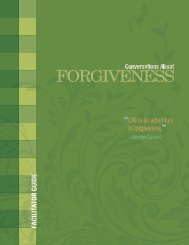 Conversations About Forgiveness Facilitator Guide