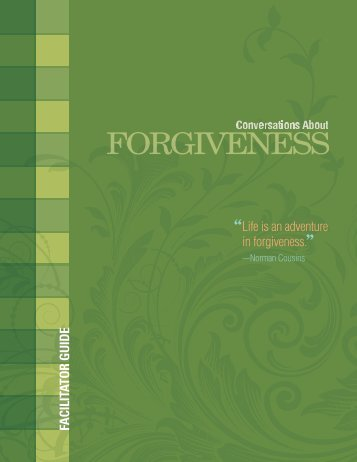 Conversations About Forgiveness Facilitator Guide