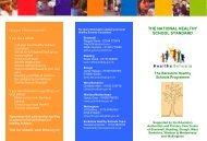 The National Healthy School Standard V1.00 - BHPS