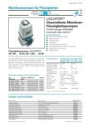 Chemiefeste Membran - KNF