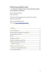 Mobilisering og digitale medier - Kommunikationsforum