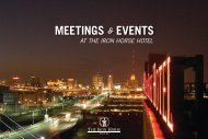 Download our Meetings & Event Guide here. - The Iron Horse Hotel