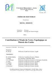 Contributions à l'Etude du Vertex Topologique en Théorie ... - Toubkal