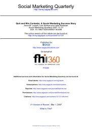 Social Marketing Quarterly