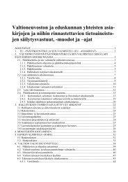arkistonmuodostussuunnitelma - Arkistolaitos