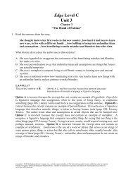 Edge Level C Unit 3 - Division of Language Arts/Reading