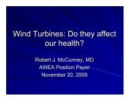 Wind Turbines: Do they affect our health? - Wind Powering America
