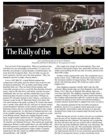 Rally of the Relics.indd - Tcmotoringguild.org