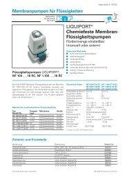 Chemiefeste Membran- Flüssigkeitspumpen - KNF