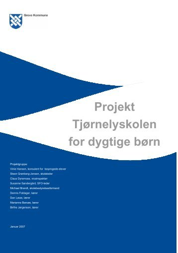 Projekt Tjørnelyskolen for dygtige børn - Greve Kommune