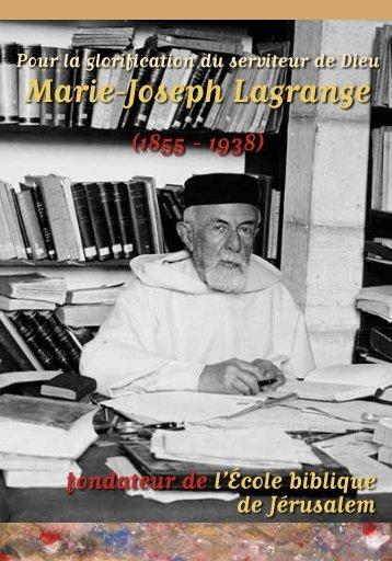 Marie-Joseph Lagrange - EBAF