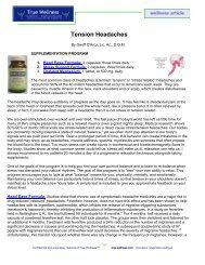 Tension Headaches - True-Wellness