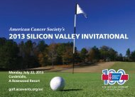 2013 silicon valley invitational - The American Cancer Society ...