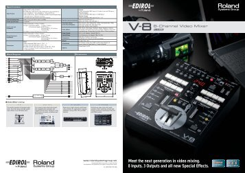 Meet the next generation in video mixing. 8 Inputs, 3 ... - Roland