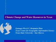 Climate Change and Water Resources in Texas