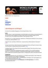 Newsletter Nr.8 (deutsch) - WONCA Europe 2012