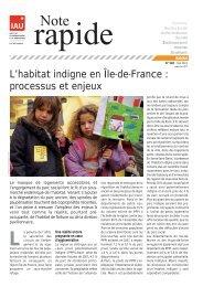 L'habitat indigne en Île-de-France : processus et enjeux - IAU îdF