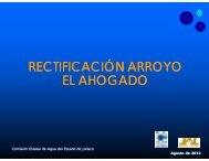 rectificación arroyo el ahogado - Comisión Estatal del Agua de Jalisco