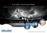 3 : 0 FOR YOUR SUCCESS. - Geuder.de