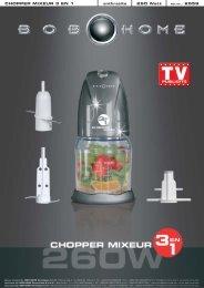 CHOPPER MIXEUR 3 EN 1 anthracite 260 Watt - BOB HOME