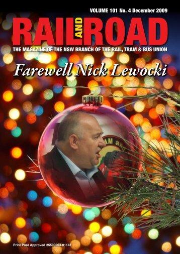 Farewell Nick Lewocki - Rail, Tram and Bus Union of NSW