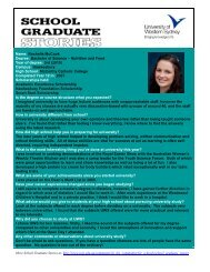 Name: Rochelle McCook Degree: Bachelor of Science – Nutrition ...