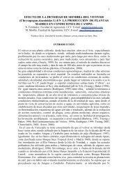EFECTO DE LA DENSIDAD DE SIEMBRA DEL VETIVER ...