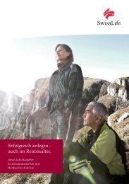 Swiss Life-Ratgeber: Erfolgreich anlegen - auch im Rentenalter