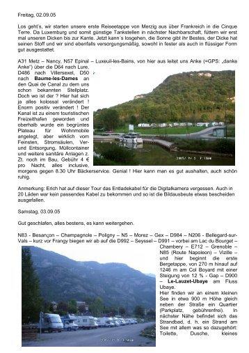 Reisebericht im PDF-Format (4,08 MB) - Ehl, Erich