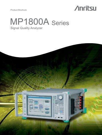 Brochure: MP1800A Series Signal Quality Analyzer - Opticus