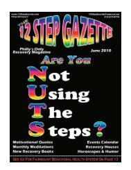 June 2010 - 12 Step Gazette