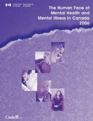 The Human Face of Mental Health and Mental Illness in Canada 2006
