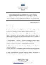 Allocution de Mme Caroline Emond, Déléguée générale du Québec ...