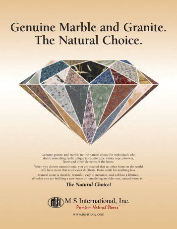 Genuine Marble and Granite. The Natural Choice. - Natural Stone