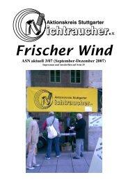 Rauchen im - Aktionskreis Stuttgarter Nichtraucher e.V.