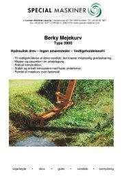 Berky Mejekurv - Special Maskiner A/S