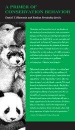 a primer of conservation behavior - UCLA Department of Ecology ...