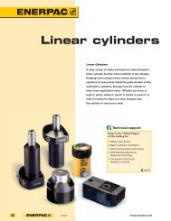 Linear cylinders - Enerpac