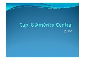 Cap. 8 América Central