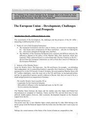 The European Union – Development, Challenges ... - Christoph Zöpel