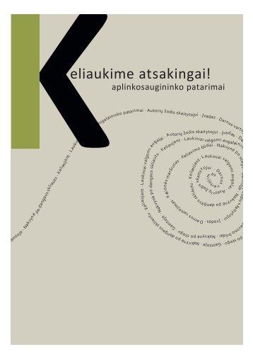PDF – 2.8 MB (Lietuvių k., 2013) - Baltijos aplinkos forumas Lietuvoje