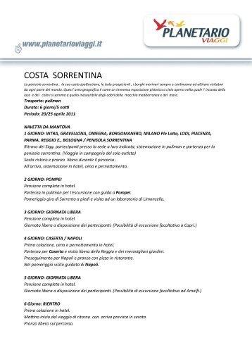COSTA SORRENTINA - Planetario Viaggi