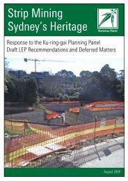 Strip Mining Sydney's Heritage - NSW