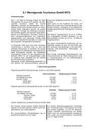 5.1 Wernigerode Tourismus GmbH (WTG) - Stadt Wernigerode