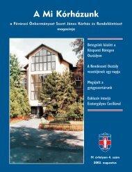 A Mi Kórházunk: 2002. augusztus ( IV/4) - Szent János Kórház