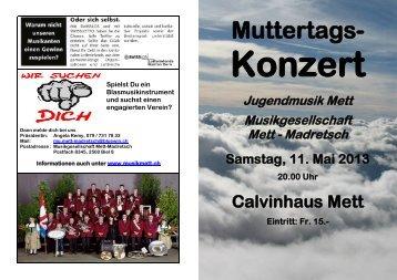 Muttertags- - Musik Mett-Madretsch